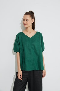 Tirelli - Bishop Sleeve Top - Emerald