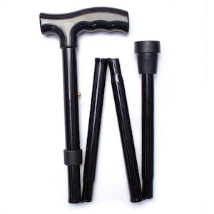 Safe Home Care Adjustable Folding Walking Stick Black