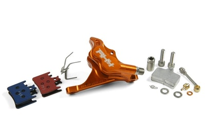 Hope Rx4 Caliper Flatmount Rear - Orange-Sram