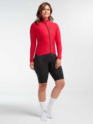 Black Sheep Cycling Women's Elements LS Thermal Jersey - Jester Red