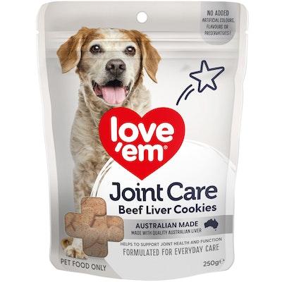 Love'em Love Em Joint Care Beef Liver Cookies Dog Treats 250g
