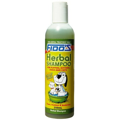 Fidos Herbal Shampoo Cleans & Deodorises for Puppies Kittens Dogs & Cats - 2 Sizes
