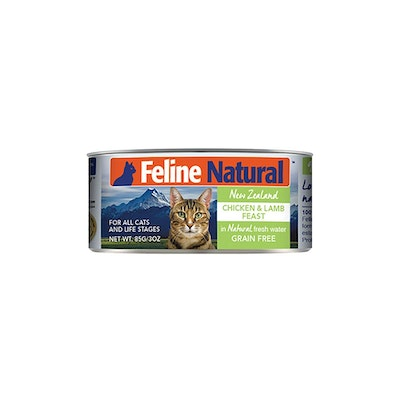 FELINE NATURAL Canned Chicken And Lamb 85G