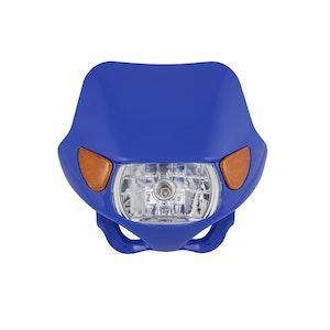 Halogen Motocross Headlight with Indicators - Blue