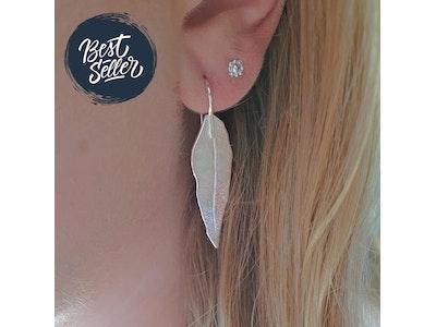 Gum Leaf Earring - Large