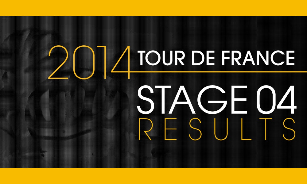 Kittel First... Just - Stage 4 Results