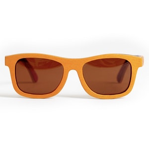 TicTasTogs Recycled skateboard Sunglasses | Sunburnt Orange