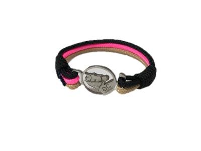 Breeze Black & Pink Rope Bracelet