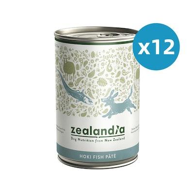 ZEALANDIA Hoki Fish Pate Dog Wet Food 385g x 12