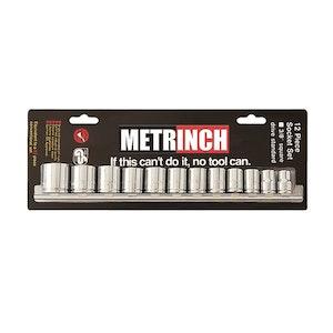 "Metrinch Standard Socket Set 3/8"" Drive 12 Piece"