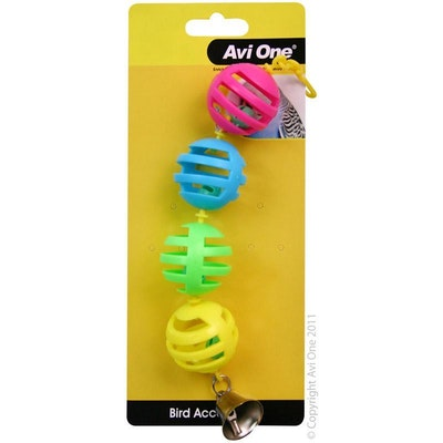 Avi One Bird Toy Geo Balls with Bell