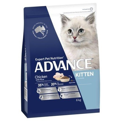 Advance Dry Cat Food Kitten Chicken 6kg