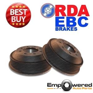 RDA REAR BRAKE DRUMS for Ford F250 Some *SRW* 1984-1986 RDA6705 PAIR