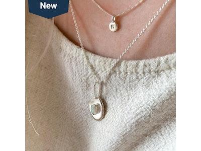Opal Pebble Pendant