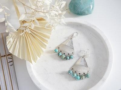 CocoKanela Chandelier Earrings with Turquoise