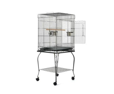 House of Pets Delight Pet Bird Cage with Stainless Steel Feeders