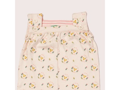 Little Green Radicals Quince Flowers Playdays Dungarees
