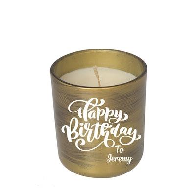 Symbolic Studio Birthday Brush Gold - Hand Poured Soy Candle