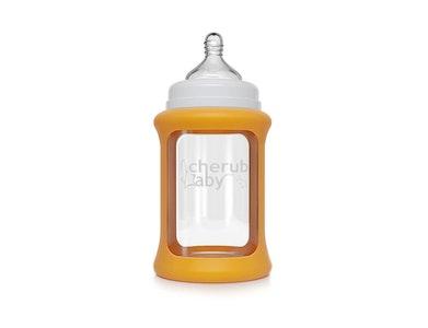 Colour Change Glass Bottles Wide Neck 240ml Single Pack - Orange