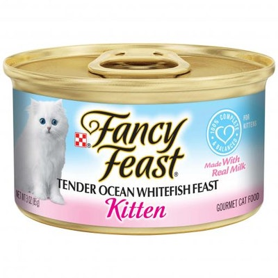 Fancy Feast Kitten Tender Ocean Whitefish Wet Cat Food 85G