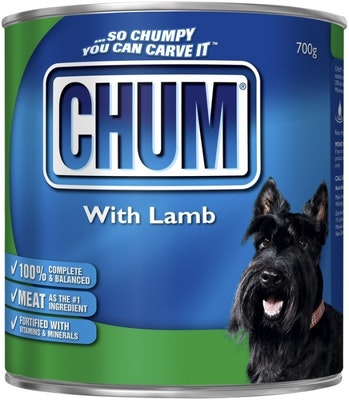 Chum With Lamb Flavour Adult Dog Food 700g x 12