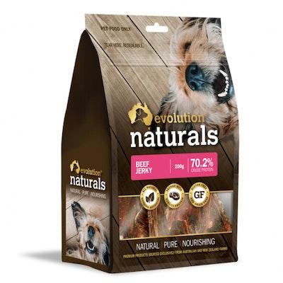 EVOLUTION NATURALS Beef Jerky Dog Treats 200G