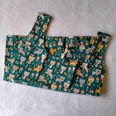 Kitten Kisses Green Shopping Bags