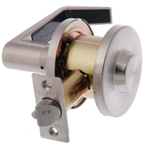 Brava Metro EL6052SC70 combination half lever set 70mm back set in satin stainless steel finish