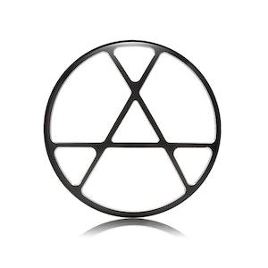 "7"" Metal Anarchy Design Grill - Black Contrast Cut"
