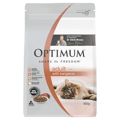 Optimum Adult Kangaroo Dry Cat Food 800G