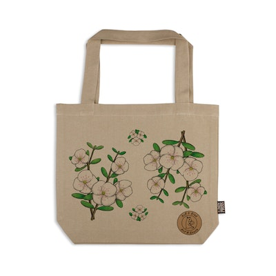Art'N Green Organic Cotton Tote Bag with Leatherwood flower - LARGE