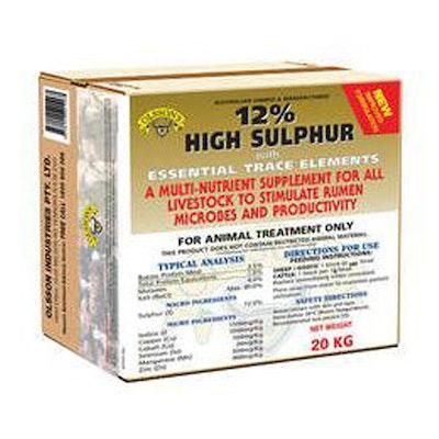 Olsson 12% High Sulphur Trace Elements Livestock Feed Supplement 20kg