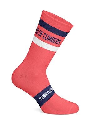 Band of Climbers Vista Socks - Pink/Navy
