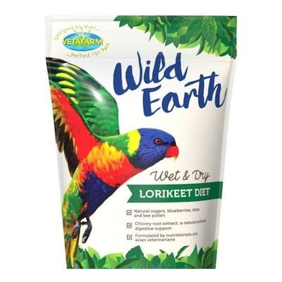 Vetafarm Wild Earth Wet & Dry Lorikeet Diet Mix - 3 Sizes
