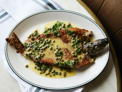 The Hardware Club Corner Inlet Silver-Whiting with Lemon-Capers-Butter