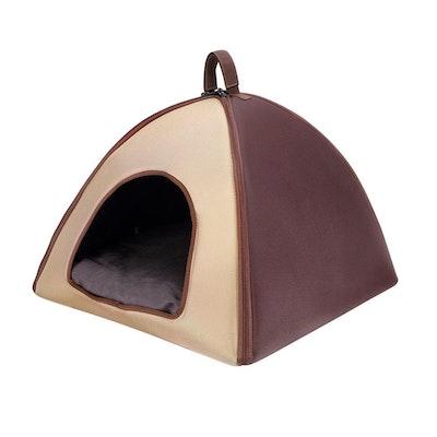 Ibiyaya Pet Tent Bed - Capuchino