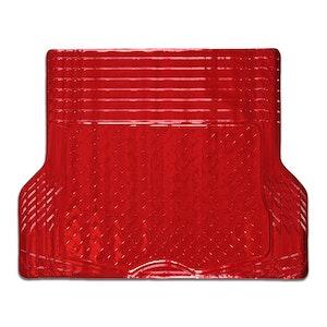 Aluminium Look 1-Piece Boot Mat - Red [Rubber/Aluminium Look]