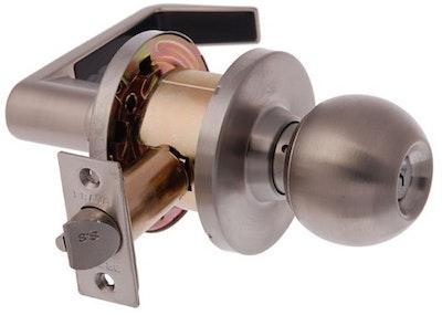 Brava Metro commercial grade EL3000SS Entrance knob / lever set 70mm backset in satin stainless steel finish