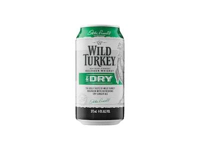 Wild Turkey & Dry Can 375mL