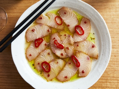 Kingfish Sashimi Yuzukosho Dressing