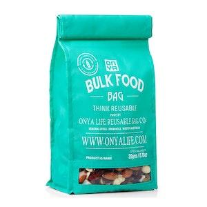 Onya Bulk Food Bag (Medium) made from recycled plastic drink bottles - Aqua