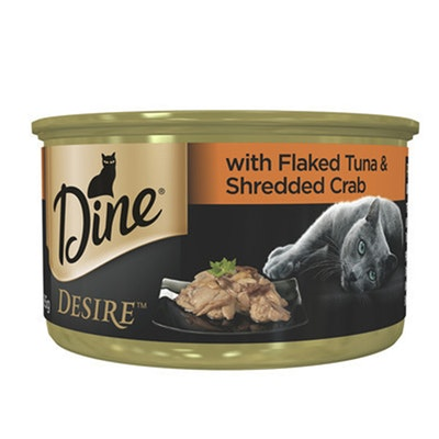 Dine Desire Cat Wet Food w/ Flaked Tuna & Shredded Crab - 2 Sizes