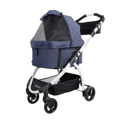 Ibiyaya New CLEO Travel System Pet Stroller – Blue Jeans