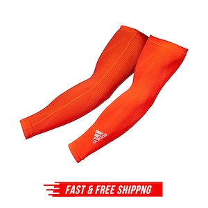 Adidas Compression Arm Sleeves Cover Basketball Sports Elbow Support L/XL - Red