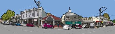 Panoramic Print - Wallace Street Braidwood