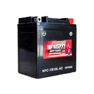 Power AGM 12V 10AH 195CCAs Motorcycle Battery