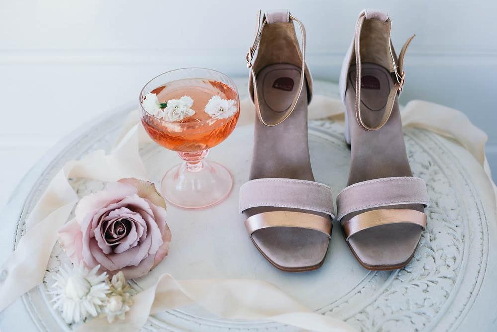 Boho Wedding Bared Footwear Yellowglen Wedding Champagne Flowers