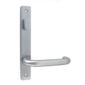 dormakaba narrow style inner square end plate with turn snib & 25 lever visible fixing in SCP finish