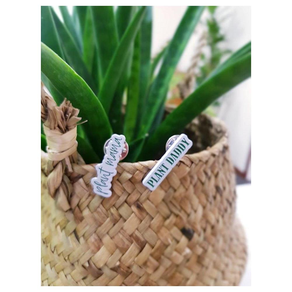 "Pretty Cactus Plants  Mr Plant Geek - ""plant Daddy"" Or ""plant Mama"" Enamel Pin Badges"