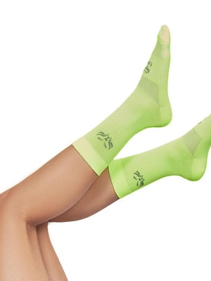 Taba Fashion Sportswear Media Ciclismo Edicion Especial Soft Verde Neon